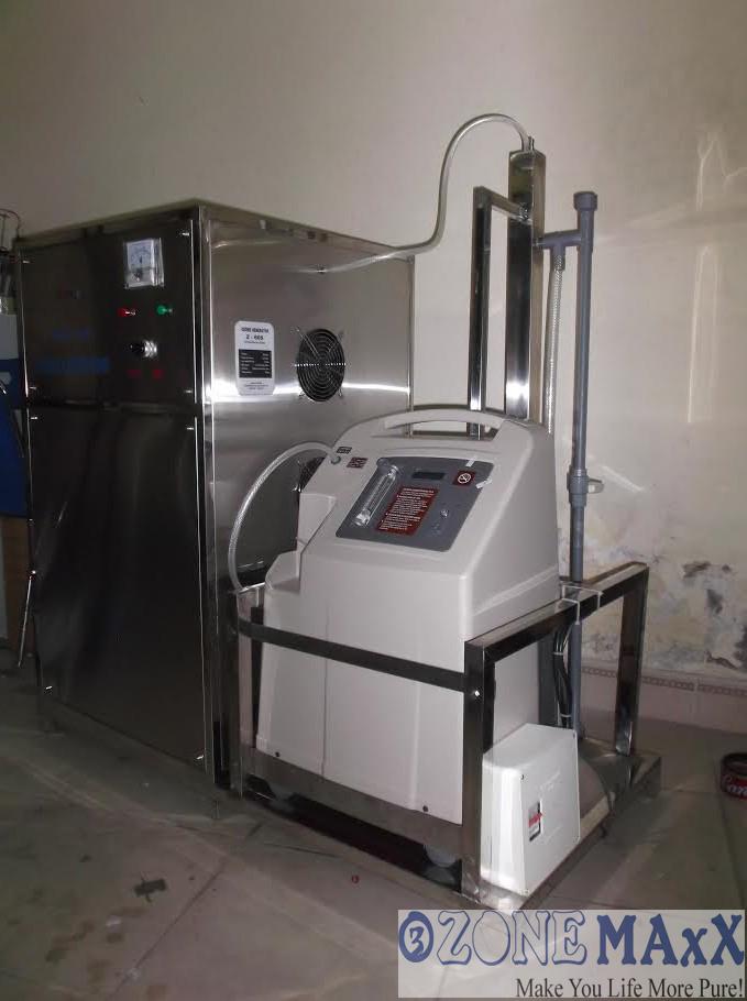 Hình ảnh máy oxy được lắp đặt cùng máy tạo khí ozone công suất 80g/h