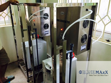 Công trình lắp đặt máy ozone xử lý bể bơi OM-Z40S với số lượng 2 cái tại nhà Bác Sỹ – chủ trang viên Đồng Gội – Hòa Bình.